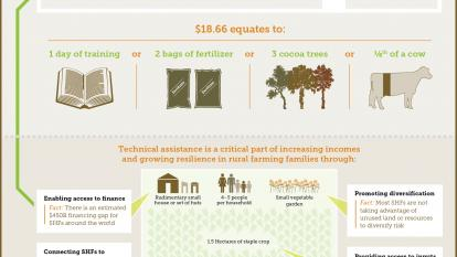 How much is being done for the world's 450 million smallholder farmers?